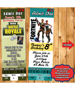 Fortnite Birthday Invitations 10 ea with Envelopes Personalized Custom Made - $11.50