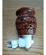 Retired Scentsy Roma Red Round Ceramic Wall Plug In Wax Warmer  - $6.88