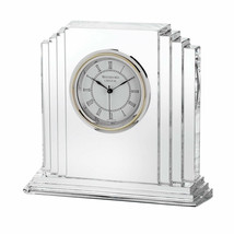 "Waterford Metropolitan 6"" Large Crystal Clock Art Deco #9803730062 New I... - $282.15"