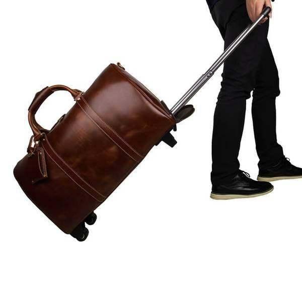 On Sale, Handmade Vintage Full Grain Leather Travel Bag, Duffel Bag, Holdall Lug