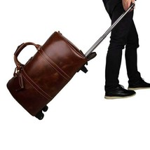 On Sale, Handmade Vintage Full Grain Leather Travel Bag, Duffel Bag, Holdall Lug image 1