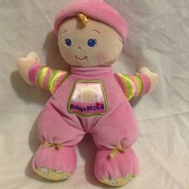 Fisher Price Pink Baby's 1st Doll Plush Rattle Baby Girl Toy For Infants... - $11.02