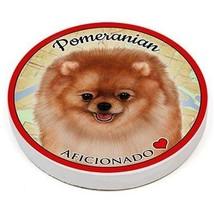 Pomeranian Dog Set of 4 Porcelain Auto Absorbent Cup Holder Coasters - $18.95