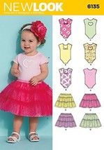 Simplicity Creative Patterns New Look 6135 Babies' Dress, A (NB-Small-Me... - $7.84