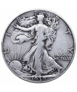 1939 US Walking Liberty Silver Half Dollar - $11.35