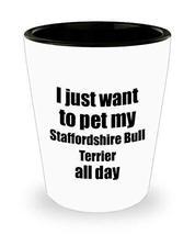 Staffordshire Bull Terrier Shot Glass Dog Lover Mom Dad Funny Gift Idea for Liqu - $9.87