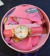 Barbie Fossil Watch & Scarf 35th Anniversry in Round Hatbox Unused - $51.43
