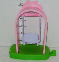 Fisher Price Little People Garden Flower Swing with Arch Pink purple Rare green image 2