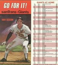 1984 SAN FRANSICO GIANTS MLB SCHEDULE INFORMATION BROCHURE-BASEBALL - $2.69