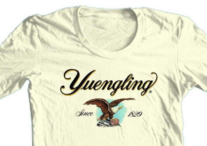 Yuengling Beer T-shirt Eagle Logo lager 100% cotton graphic printed tee