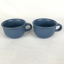 2 Dansk Mesa Sky Blue Cups and Saucers Japan Stoneware Pottery Set - $14.31