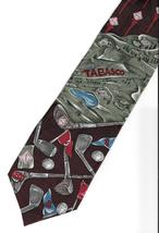 Tabasco Neck Tie Golf Clubs Pepper Sauce brown silk logo novelty necktie N3 - $21.77