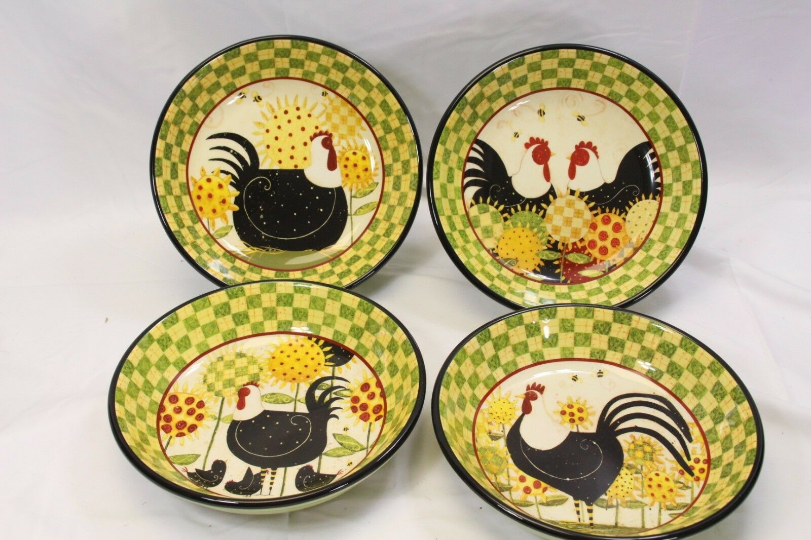 "Primary image for Certified International Oh Happy Day Dan Dipaolo Pasta Bowls 9.5"" Lot of 7"