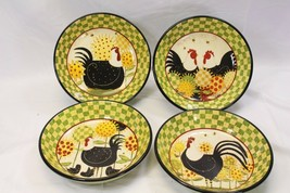 "Certified International Oh Happy Day Dan Dipaolo Pasta Bowls 9.5"" Lot of 7 - $97.02"