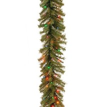 National Tree 9 Foot by 10 Inch Norwood Fir Garland with 50 Battery Operated Mul