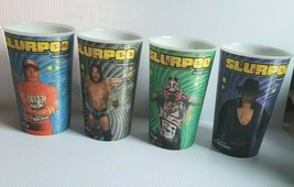 4 x 2010 WWE 7 ELEVEN Slurpee Summer Slam holographic Set (4) CUPS  - $39.50