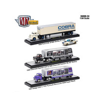 Auto Haulers Release 24, 3 Trucks Set 1/64 Diecast Models by M2 Machines... - $75.60