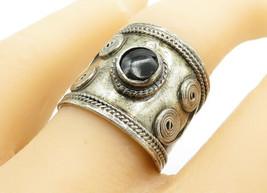 925 Sterling Silver - Vintage Black Onyx Wire Swirl Twist Band Ring Sz 9... - $30.03