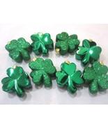 St Patrick's Day Shiny Glitter Green Shamrock Ornaments Decorations Set ... - $14.99