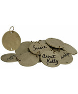 Country REPLACEMENT BIRTHDAY CALENDAR TAGS Blank Wooden Primitive Rustic... - £13.78 GBP