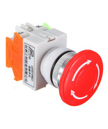1 NC N/C DPST Emergency Stop Switches Push Button Switch Mushroom 4 Scre... - $3.61