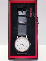MVMT Watch Classic White Black Men's Watch + Extra Brown Leather Straps  - $66.49
