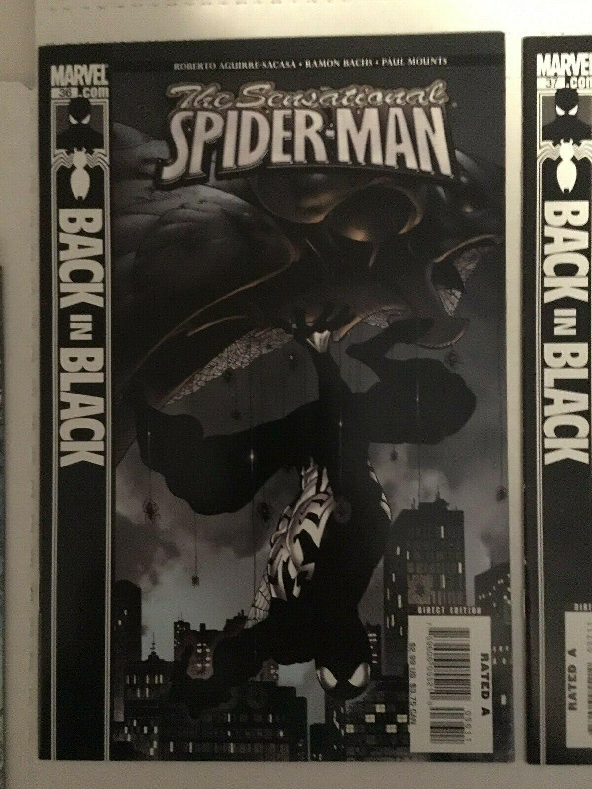 Sensational Spider-Man #35 36 37 38 Marvel Comic Book Lot VF+ Back In Black 2007