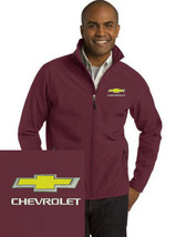 Chevrolet Maroon Embroidered Port Authority Core Soft Shell Unisex Jacke... - $39.99