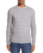 Bloomingdales Mens Cashmere Sweater NWT Crewneck Cotton NWT Gray Combo S... - $19.75
