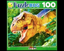 100 Piece Jigsaw Puzzle Puzzlebug 9 in. x 11 in., T-Rex - $4.74