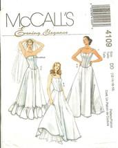 McCall's 4109 Tops & Petticoats Bridal Wedding Prom Evening Elegance 12-... - $14.47