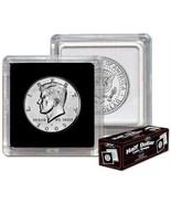 Case 500 BCW 2X2 COIN SNAP -HALF DOLLAR- BLACK - Premium Long-term Stora... - $153.96