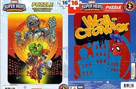 Marvel Super Hero Adventures - 16 Pieces Jigsaw Puzzle - (Set of 2 Puzzl... - $12.34