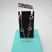Tiffany & Co 5 Open Heart Bracelet Elsa Peretti Sterling Silver w/Box, Pouch F/S - $151.89
