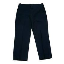 """Talbots Black Capri Dress Pants ~ Sz 4 ~ Mid Rise ~ Tapered ~ 23"""" Inseam - $24.74"""