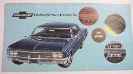 1966 Chevrolet ORIGINAL Accessories Accessory Custom Feature Brochure Xlnt - $34.00