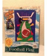 """New Flyin High Flags Football Flag Size 28""""x40"""" by Megatoys #20504 - $15.95"""