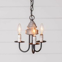 Bellview new small wood Chandelier in Earl Gray - 3 Light - $217.95