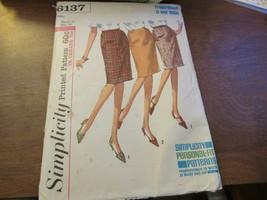 "Vintage Simplicity 6137 Miss Skirt  Waist 25"" Hip 34  - $6.99"