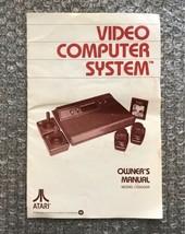 Vintage 1980 Atari Video Computer System Owner's Manual 100% Original/Au... - $4.75