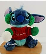 Disney Exclusive Stitch Plush Winter Naughty Sweater & Earmuff Stuffed A... - $17.62