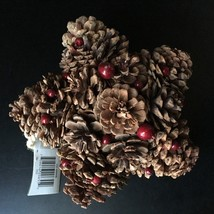 """HOLIDAY TIME* 8"""" Hanging STAR DECOR Christmas PINECONES+BERRIES Wall Dec... - $14.99"""
