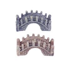 2pcs Mini Bridge Miniature Landscape Fairy Garden Terrarium - $9.95
