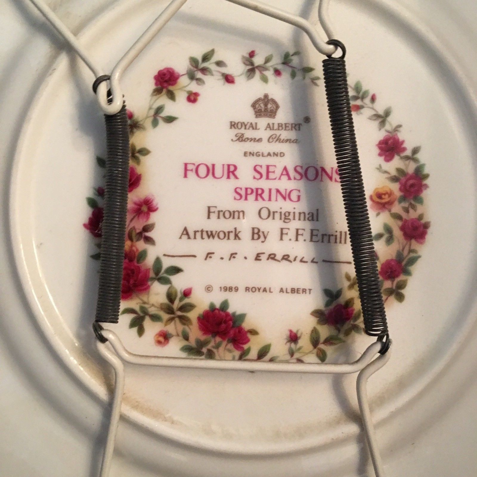 Royal Albert 'Four Seasons Series' Spring Plate - Artwork by Fred F. Errill Mint