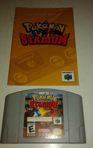 Pokemon Stadium (Nintendo 64, 2000) w/ Manual - $23.33