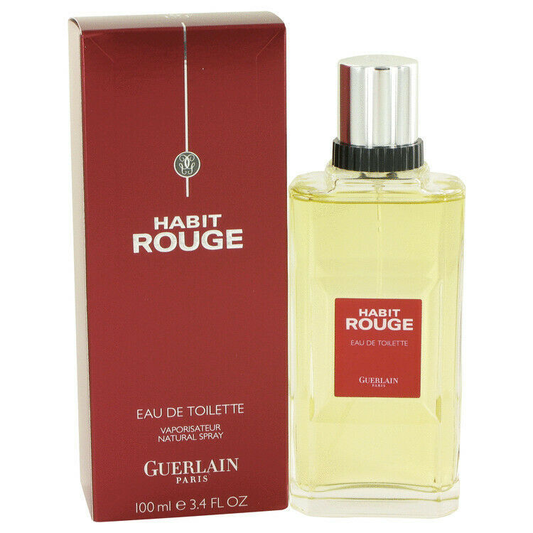 Primary image for HABIT ROUGE by Guerlain 3.4 oz 100 ml Cologne  EDT Cologne Spray for Men NIB