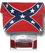 Rebel USA Patriotic Visor Hat Adjustable New - $11.00