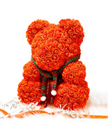 The Rose Bear Limited Christmas Edition Forever Artificial Rose Holiday ... - $124.69