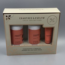 Crabtree & Evelyn Pomegranate & Argan Oil Shower Gel  Hand Cream Set Bra... - $19.55