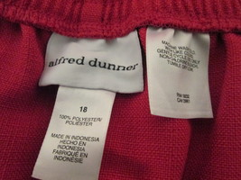 Women's rich coral red dress pants Size 18 by Alfred Dunner  MHELW192 - $12.63